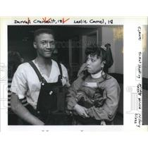 1991 Press Photo Darrell Chenault, 18, & Leslie Camel, 18 - ora09219