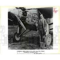 1993 Press Photo Lindbergh Beside Spirit of St Louis - orp25362
