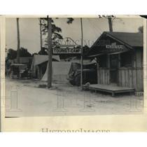 1925 Press Photo Entrance to touris camp along Florida trail