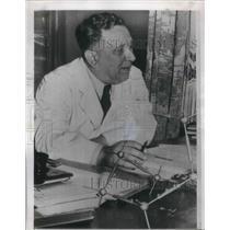 1950 Press Photo Professor Kurt Alder(shown) & Otto Diels, Nobel Chemistry Prize