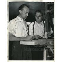 1939 Press Photo Hans Kurth, Gunther Habermann, Nazi Germany Refugees