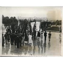 1933 Press Photo Memorial Day Services,Arlington National Cemetery, Virginia