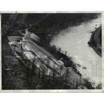 1936 Press Photo Union Carbide Carbon Company Tunnel Entrance, West Virginia