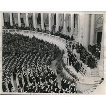 1938 Press Photo Large Crowd at the Ampitheatre at Arlington Cemetery,Virginia