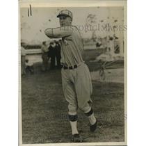 1928 Press Photo Ossie Orwell, pitcher/outfielder for Philadelphia Athletics