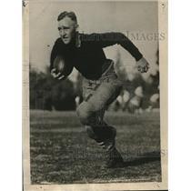 1925 Press Photo halfback Murray Cuddeback of Stanford University