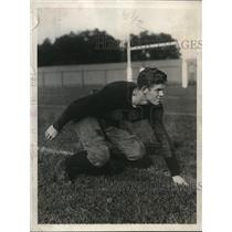 1927 Press Photo Bruce Caldwell, Yale halfback