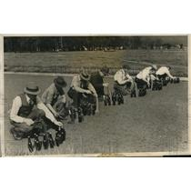 1932 Press Photo Bottle Capping Contest in Portland, Oregon