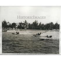 1933 Press Photo $5,00 Col. ER.H.H.Green Trophy race in Biscayne Bay