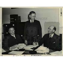 1934 Press Photo Harold Ickes testifies before house Public Lands Committee Wash