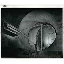 1956 Press Photo Lewis Unitary Plan Wind Tunnel control element