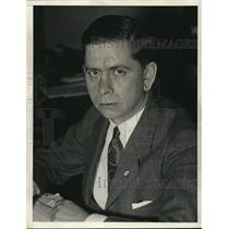 1933 Press Photo PC Kemp Deputy Administrator  of NRA