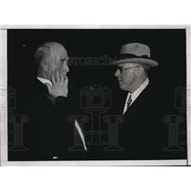 1936 Press Photo Col. Edward Starling & Inspector Bernard Thompson Check Scene