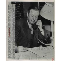 1951 Press Photo Cinncinati Ohio SC Phillips VP Locomotive Firemen & Engineers