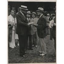 1933 Press Photo postmaster General James Farley And Mrs. Morton L. Schwarts