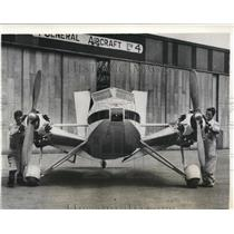 1932 Press Photo A plane designed by H.J. Stieger made on the Mono-spar system