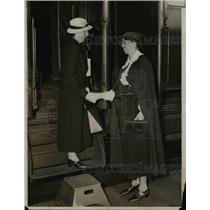 1933 Press Photo Mrs Roosevelt and Ishbel MacDonald Daughter Of Prime Minister