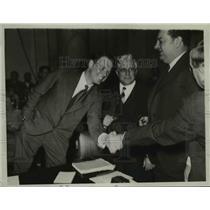 1934 Press Photo of Col. Charles Lindbergh.