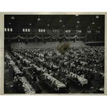 1936 Press Photo of a Dinner at London rally in Buffalo, New York.
