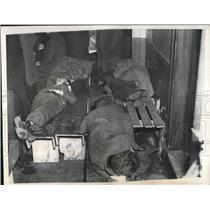 1937 Press Photo of seamen sleeping on their 74th day on strike.
