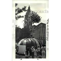 1986 Press Photo The Balloon launch on Public Square