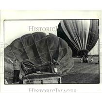 1985 Press Photo The hot air balloons at the annual Great Balloon Race