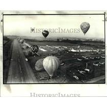 1982 Press Photo The hot air balloons at the annual Great Balloon Race