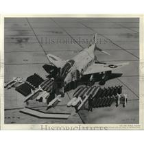 1963 Press Photo The F-4C powered by two after burning jet engines