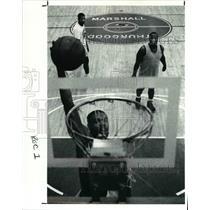 1991 Press Photo Basketball