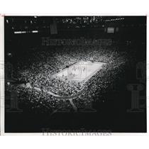1980 Press Photo Basketball game of Calvaries Vs Knicks at Ohio Richfield
