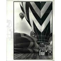 1982 Press Photo Balloons start to fill after the Hare Balloon Tock Off