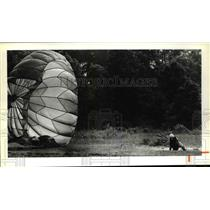1979 Press Photo The Cleveland Parachute Training Center