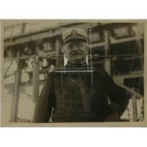 1918 Press Photo Commandant of NY Navy yard Adm John S McDonald