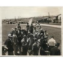 1932 Press Photo British Olympic team arrives at LA Caliv Olympic Village
