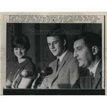 1965 Press Photo Miami Fla Joe Robbie co owner of Miami Dolphins, R Norton