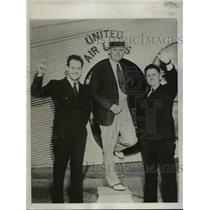 1932 Press Photo James Mattern, Clarence Page, Bennett Griffin of World Flight