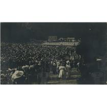 1919 Vintage Press Photo audience at Open Air Bohemian Theatre Prague