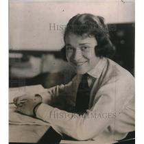 1919 Press Photo Elizabeth Robinson, New York Traffic Manager