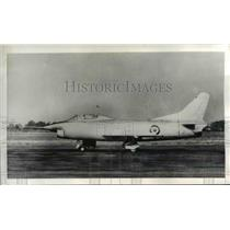 1956 Press Photo Turin Italy Fiat G91 Jet Lightweight Tactical Fighter