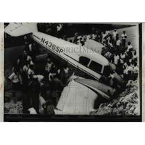 1960 Press Photo The bullet riddled plane where pilot Matthew Edward Duke died