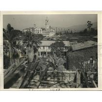 1926 Press Photo Santa Barbara view from Sacred Garden no women ever admitted