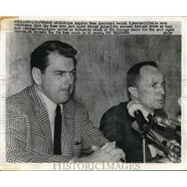 1966 Press Photo LA Rams President Daniel Reeves Tells George Allen Hired