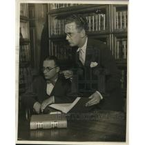 1926 Press Photo Harold L Levy, Emmet Byrne, Chicago, Illinois - nee13036