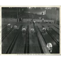 1930 Photo new bowling alleys Public Hall for American Bowling Congress