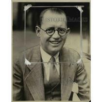 1928 Press Photo W McNichols Secretary of Cleveland Baseball