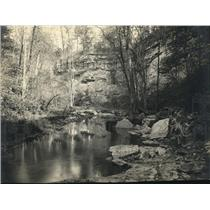 1921 Press Photo Spencer Indiana small creek in the woods