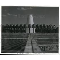 1960 Press Photo VOR ground station, static free, short range navigational aid