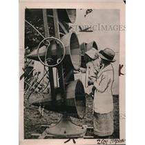 1922 Press Photo Aerial Listeners Now Being Used For Radio Horns