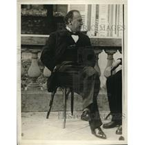 1929 Press Photo Soviet Ambassador Christian Rekowsky is sitting on a chair