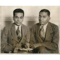 1931 Press Photo V.V.P. Suesiah and A.M.M. Murugappa